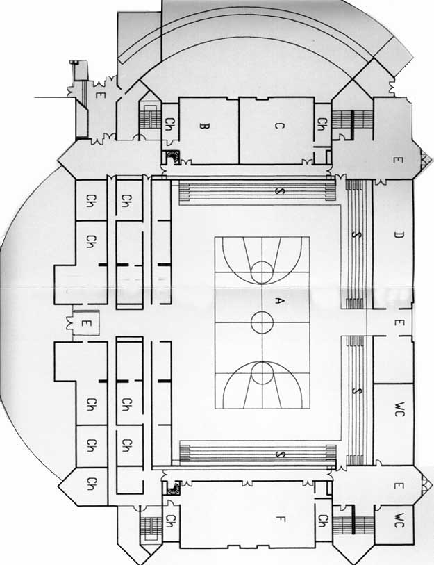 Church gymnasium floor plans joy studio design gallery for Basketball gym floor plan